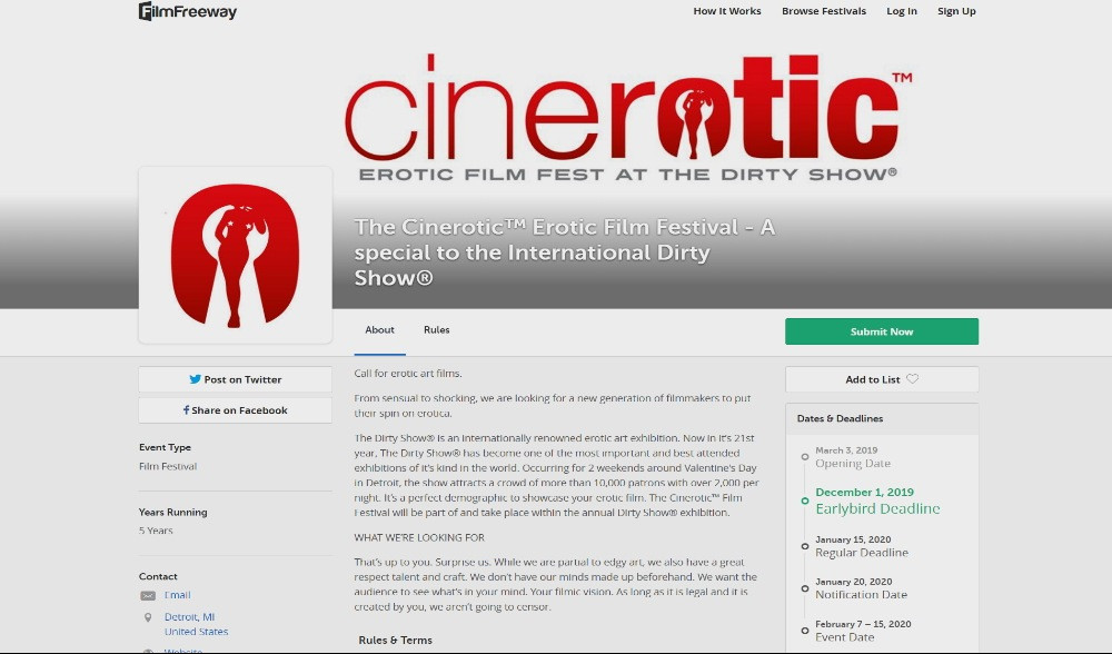 the cinerotic erotic film festival